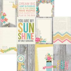 Двусторонняя бумага Vertical Journaling Cards 30х30 см от Simple Stories