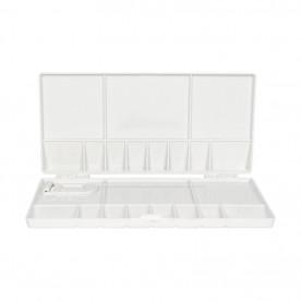 Палитра пластиковая прямоугольная профессиональная сложная, 20х10х1,8см. (18495), D.K.ART & CRAFT