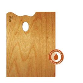 Палитра деревянная, прямоугольная, эргономичная, промасленая, 20x30см, ROSA Gallery
