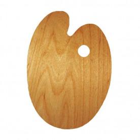 Палитра деревянная, овальная, эргономичная, промасленая, 30х40см, ROSA Gallery