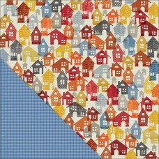Двусторонняя бумага Happy Houses 30х30 см от Little Yellow Bicycle