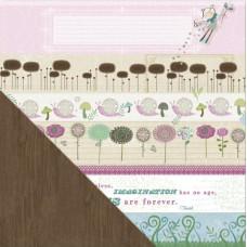 Двусторонняя бумага Blooming Bands 30х30 см от Little Yellow Bicycle