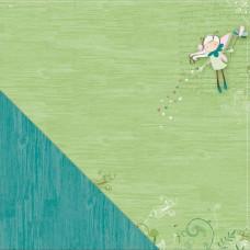 Двусторонняя бумага Fairy Flight 30х30 см от Little Yellow Bicycle