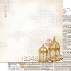 Двусторонняя бумага Song Bird 30х30 см от Bo-Bunny