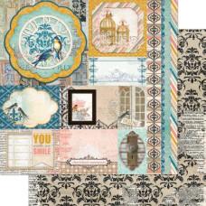 Двусторонняя бумага Treasures 30х30 см от Bo-Bunny