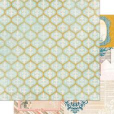 Двусторонняя бумага Trellis 30х30 см от Bo-Bunny