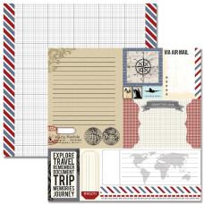 Двусторонняя бумага Ephemera 30х30 см от Teresa Collins
