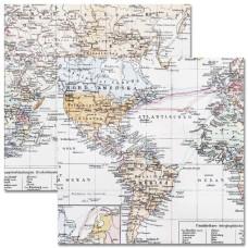 Двусторонняя бумага Maps 30х30 см от Teresa Collins