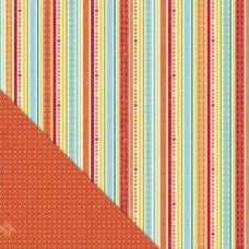 Двусторонняя бумага Garden Stripe 30х30 см от Little Yellow Bicycle