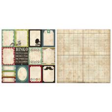 Двусторонняя бумага Journaling Cards 30х30 см от Echo Park