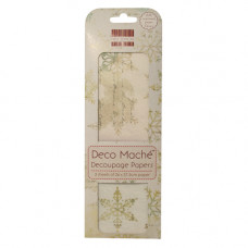 Бумага для декупажа Deco Mache - Snowflakes 26х37,5 см от First Edition