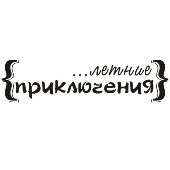"""Акриловый штамп """"Летние приключения"""" 6,9х1,7 см"""