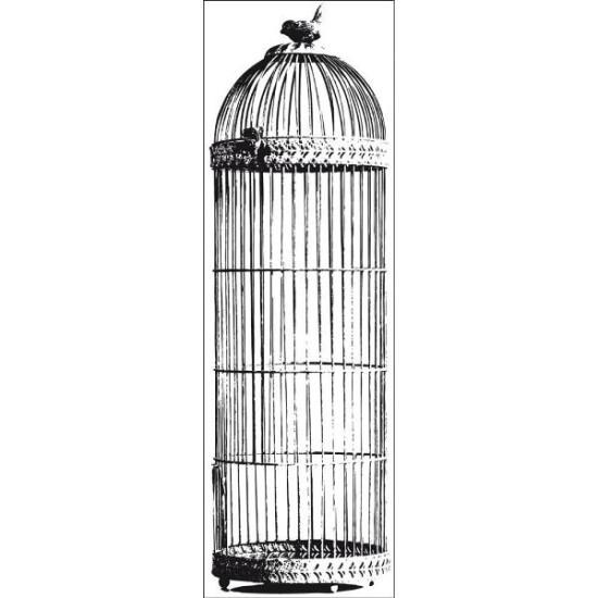 Акриловый штамп Bird Cage 13х5 см от Kaisercraft
