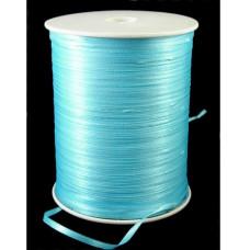 Атласная лента голубого цвета, ширина 3 мм, длина 5 м