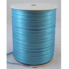 Атласная лента темно-синего цвета, ширина 3 мм, длина 5 м
