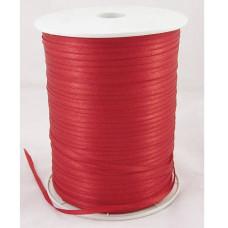 Атласная лента красного цвета, ширина 3 мм, длина 5 м