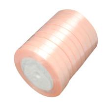 Атласная лента нежного абрикосового цвета, ширина 6 мм, длина 1 м