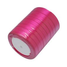 Атласная лента цвета фуксии, ширина 6 мм, длина 1 м