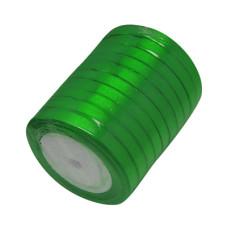 Атласная лента зеленого цвета, ширина 6 мм, длина 1 м