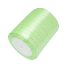 Атласная лента светло-салатового цвета, ширина 10 мм, длина 90 см