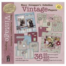 Набор бумаги и украшений Vintage 36 листов 30х30 см от HOTP
