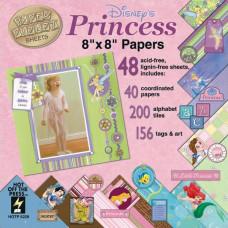 Набор бумаги и украшений Princess 40 листов 20х20 см от HOTP