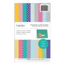 Набор заготовок для открыток Bright Basics Paper 18 листов 14х21,6 см от American Crafts