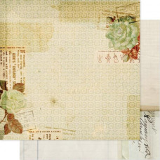 Двусторонняя бумага Documents 30х30 см от Pink Paislee