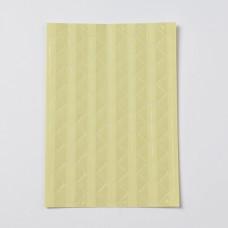 Набор уголков для фотографий, прозрачный, размер уголка 12x15,5мм, ок, 102шт/лист