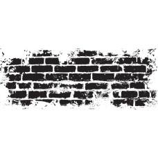 Прозрачный акриловый штамп Brick Wall - Texture, 5.5x13.5 см, Kaisercraft