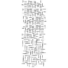Прозрачный акриловый штамп Wowen line - Texture, 5.5x13.5 см, Kaisercraft