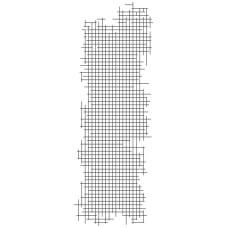 Прозрачный акриловый штамп Grid - Texture, 5.5x13.5 см, Kaisercraft