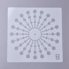 Трафарет многоразовый, Узор, Буква В, 20x20x0,02 см