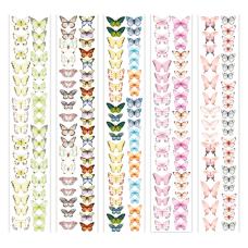 Набор смуг з картинками для декорування Метелики 6, 5 шт 5х30,5 см, Фабрика Декору