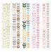 Набор полос с картинками для декорирования Бабочки 6, 5 шт 5х30,5 см, Фабрика Декору