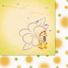 Лист бумаги для скрапбукинга, Милашки-Симпатяшки, Лучшие друзья, 29,5x29,5 см, 190 г/м2, 1 шт, Lana Odis