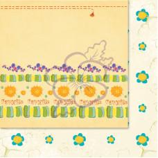 Лист бумаги для скрапбукинга, Милашки-Симпатяшки, Бордюрчики, 29,5x29,5 см, 190 г/м2, 1 шт, Lana Odis