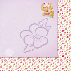 Лист бумаги для скрапбукинга, Милашки-Симпатяшки, Давай делиться, 29,5x29,5 см, 190 г/м2, 1 шт, Lana Odis