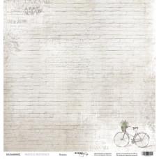 Лист односторонней бумаги 30x30 Кладка  French Provence, Scrapmir