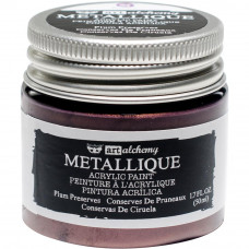 Акриловая краска металлик Metallique Plum Preserves - Finnabair Art Alchemy, 50 мл, Prima