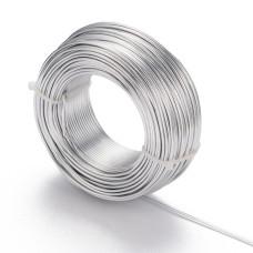 Алюминиевая проволока серебряного цвета, номер 12, 2 мм толщиной, 1 м