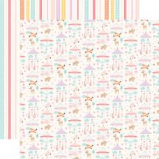 Двусторонняя бумага Girl Mobiles - Hello Baby Girl 30х30 см Echo Park