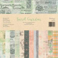 Набор бумаги для скрапбукинга, Secret Garden, 30,5x30,5 см, 190 г/м2, Конфетти