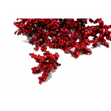 Букет ягодок, красный, размер веточки 7.5х6.5х6 см