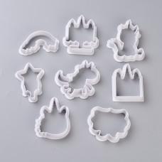 Набор форм-прессов для печенья, Сказочный праздник, 8 шт, от 38 до 73 мм, высота 14 мм