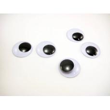 Глазки, черно-белый, 24 мм, 1 шт
