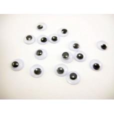 Глазки, черно-белый, 7 мм, 1 шт