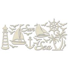 Набор чипбордов, Море, бежевый, 10х15 см, Фабрика Декора