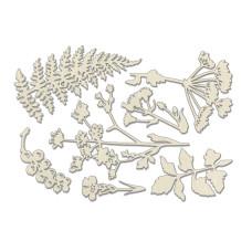 Набор чипбордов, Летняя ботаника, бежевый, 10х15 см, Фабрика Декора
