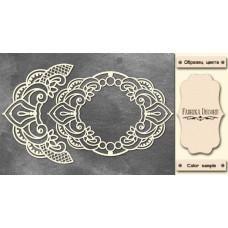 Набор чипбордов Рамка и бордюр с завитками 10х15 см #524, Фабрика Декору